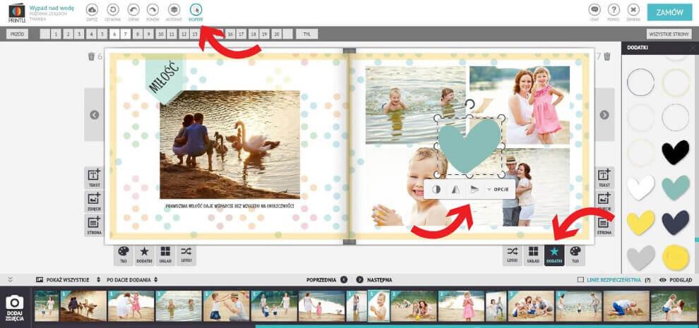Dodawanie do fotoksiążki grafik z innych szablonów