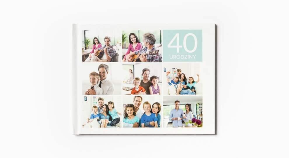 Fotoksiążka z tekstem jako idealny prezent na 40 urodziny dla mężczyny