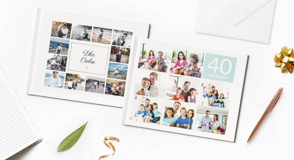 Fotoksiążka zawierająca życzenia na 40 urodziny