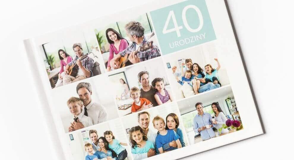 Życzenia na 40 przekazane w fotoksiążce