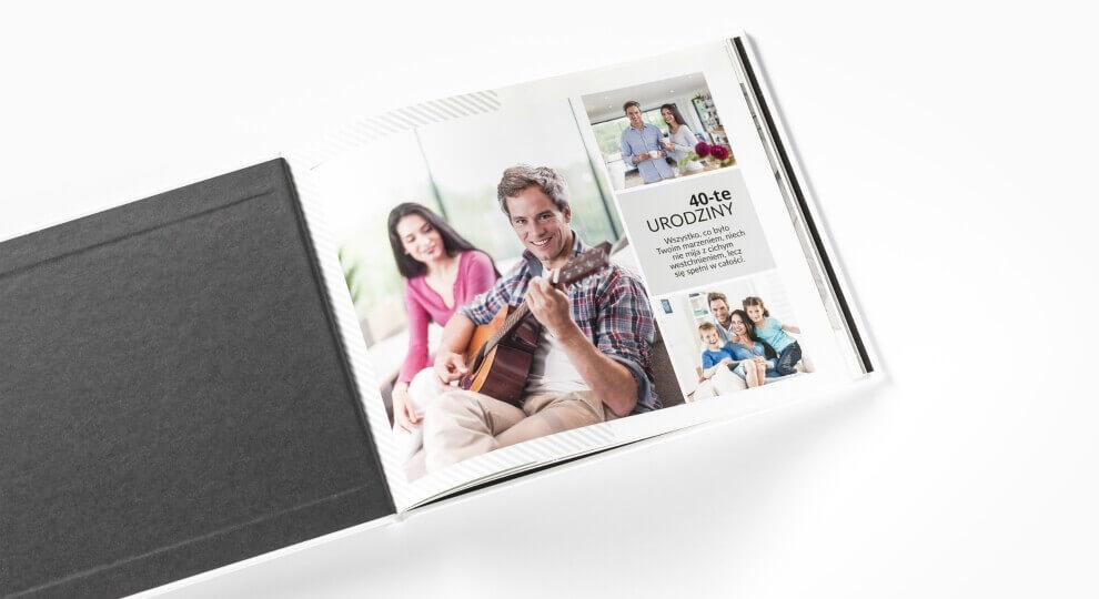 Krótkie życzenia na 40 urodziny ujęte na kartach fotoksiążki