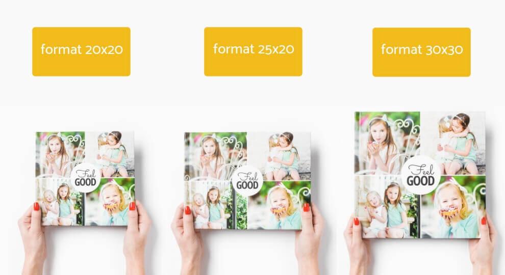 Fotoksiążka w formacie 30x30, 25x20 i 20x20