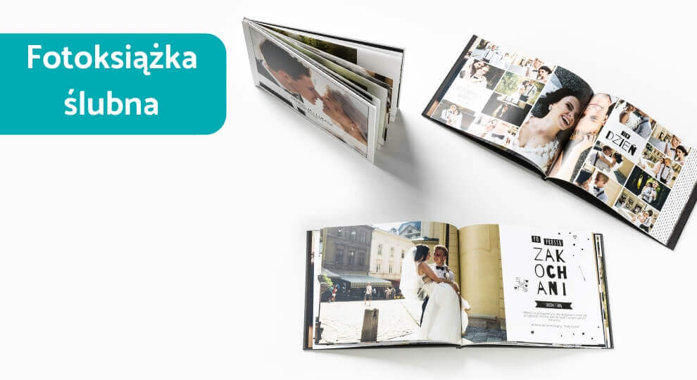 Fotoksiążka ze ślubu pomieści wszystkie zdjęcia z sesji narzeczeńskiej, ceremonii i wesela