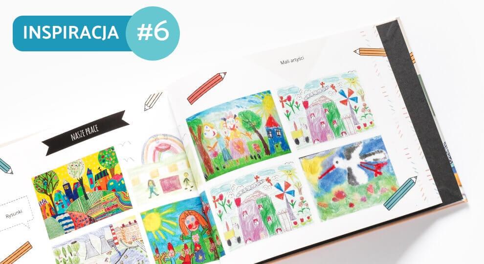 Fotoksiążka z rysunkami dziecka pozwoli wprowadzić ład