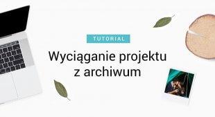 Wyciąganie projektu fotoksiążki z archiwum
