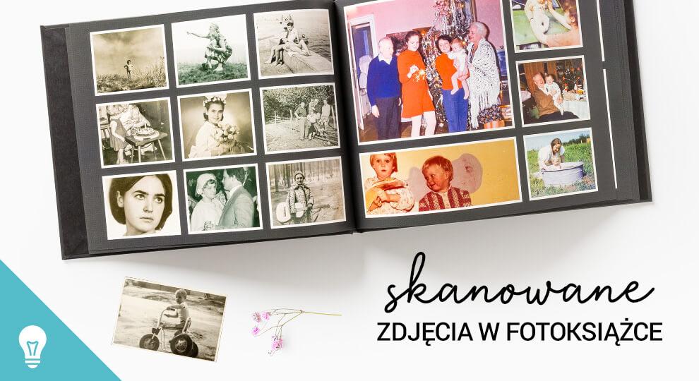 Fotoksiążka ze starych zdjęć, które zostały zeskanowane